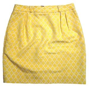 Kate Spade Skirt The Rules Yellow Pencil Skirt 6
